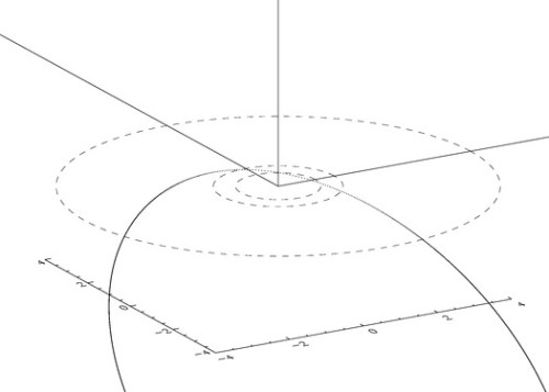 VCSE - Föld légkörével való ütközése előtti pálya.