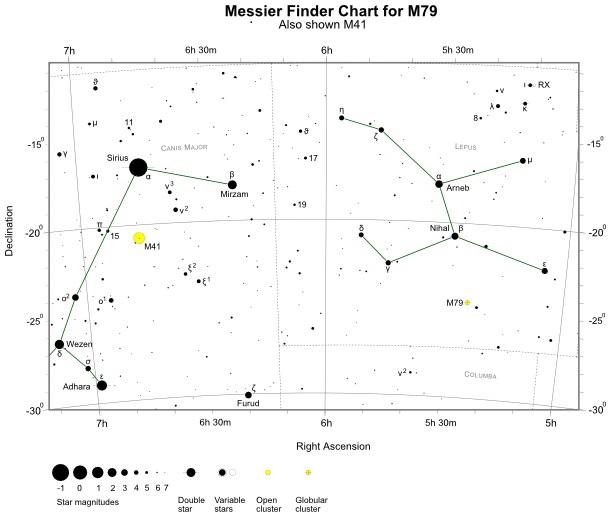 VCSE - M41, M79 keresőtérkép