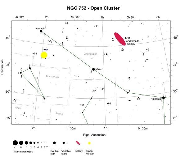 VCSE - NGC 752 keresőtérkép